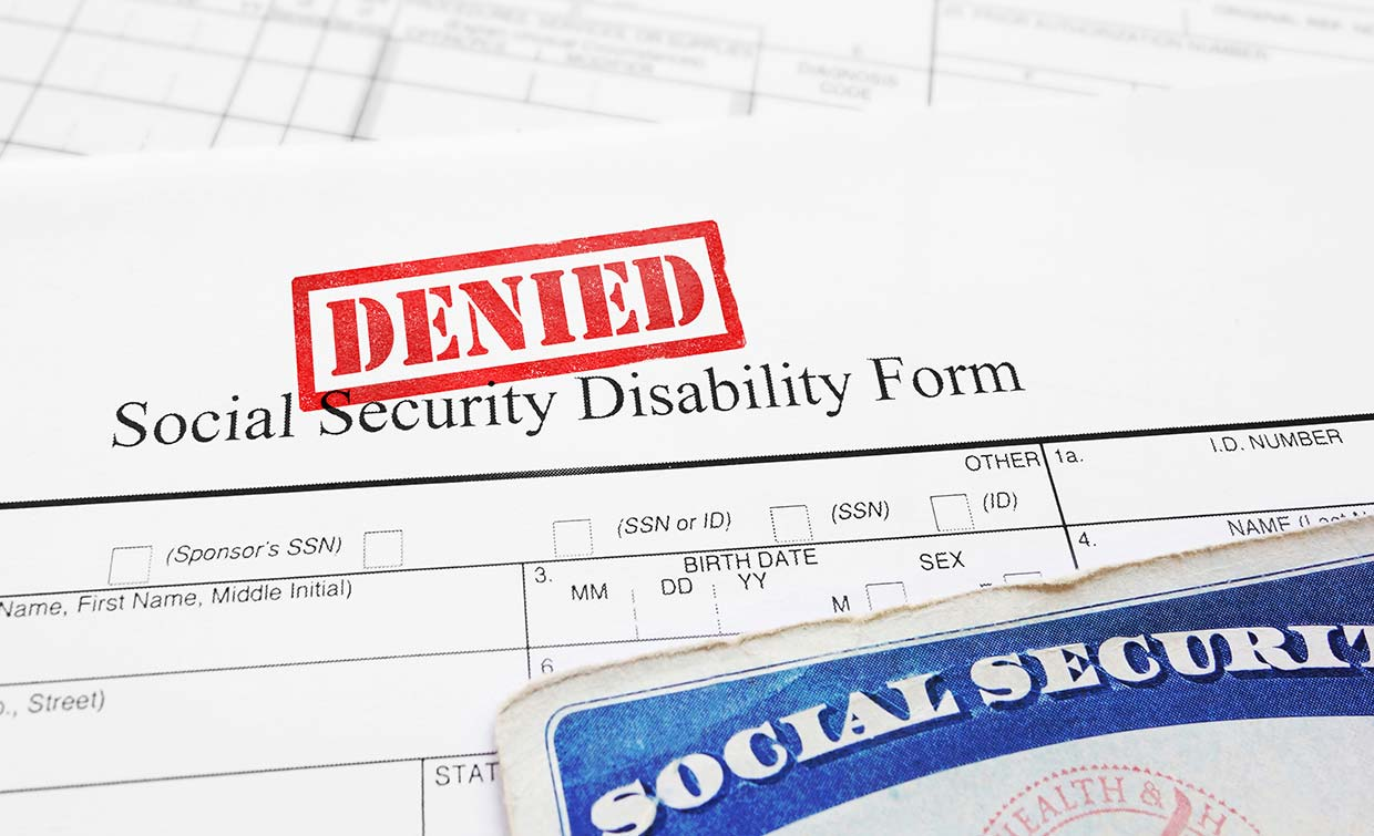 Social security disability denied appeals process paperwork photo